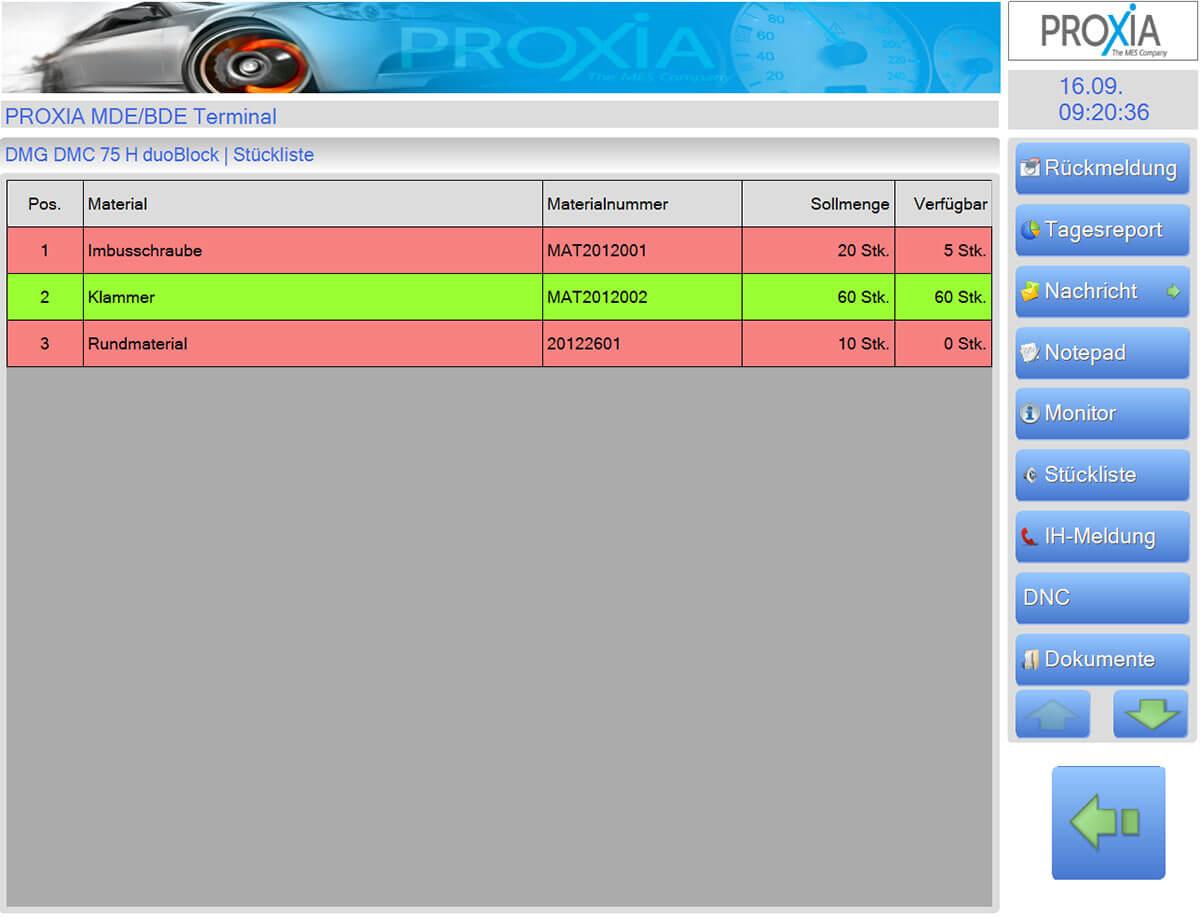 PROXIA Product Internal transport logistics software impression 2