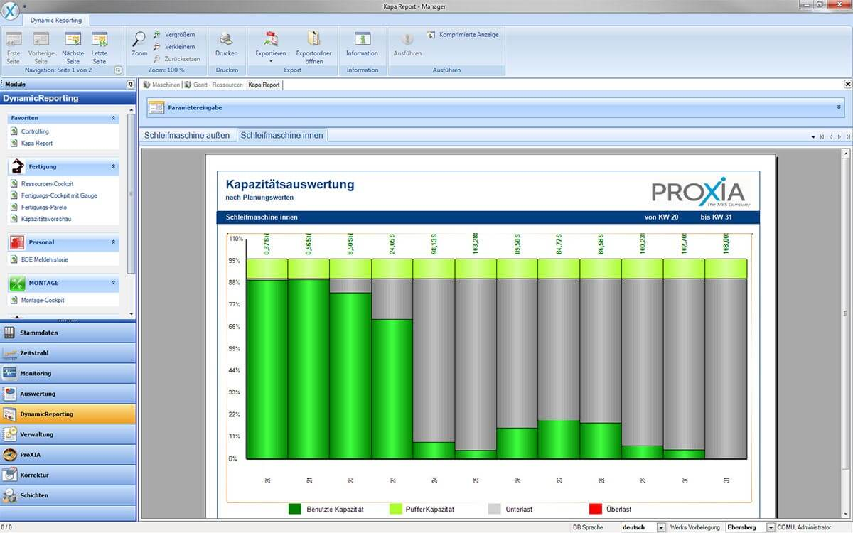 PROXIA Produkt Manager Software-Impression 8