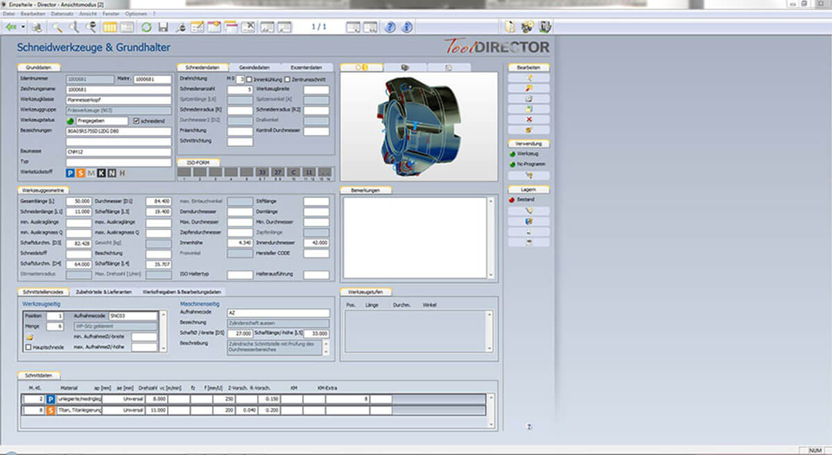 PROXIA Produkt Tool-Data-Management Software-Impression 2