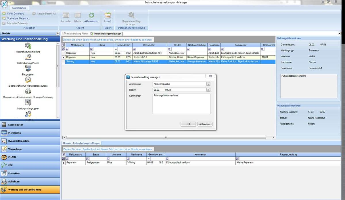 PROXIA Produkt TPM.web Software-Impression 4