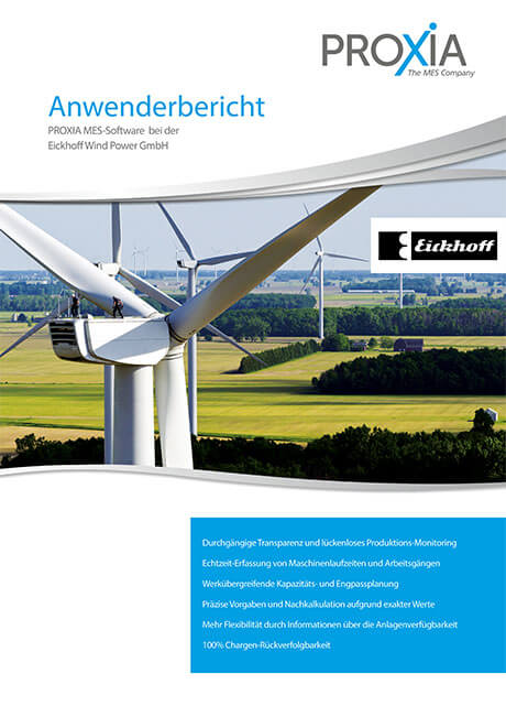 PROXIA Case study Eickhoff Wind Power