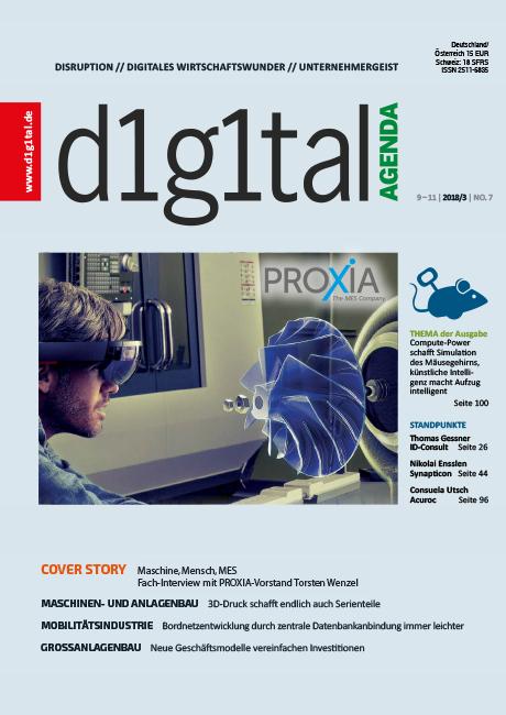 PROXIA Fachbericht Mensch Maschine MES digital Agenda