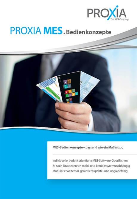 PROXIA Flyer MES-Bedienkonzepte