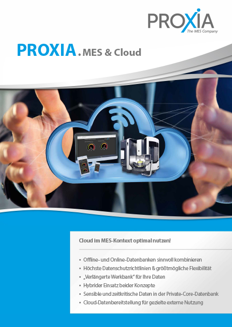 PROXIA Flyer Cloud MES