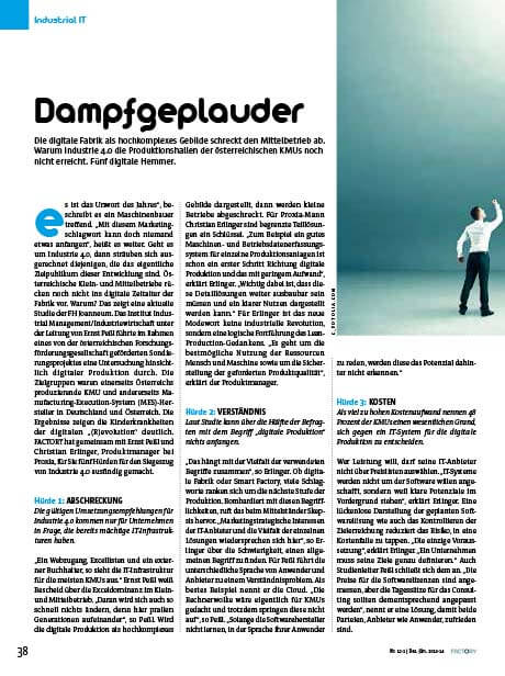 PROXIA Flyer Dampfgeplauder