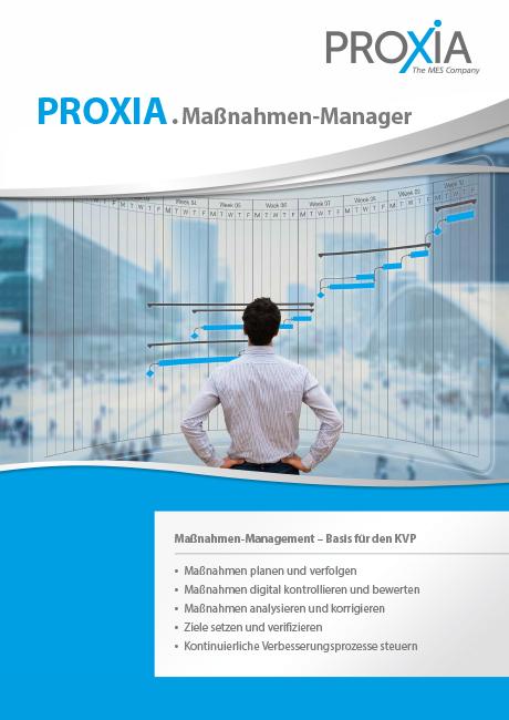 PROXIA Flyer Maßnahmen-Manager