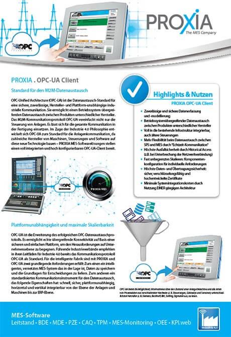 PROXIA Flyer OPC-UA Client