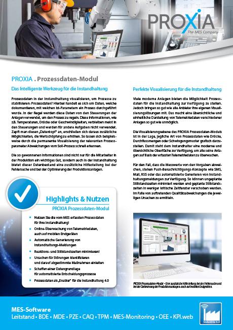 PROXIA Flyer Prozessdaten-Modul
