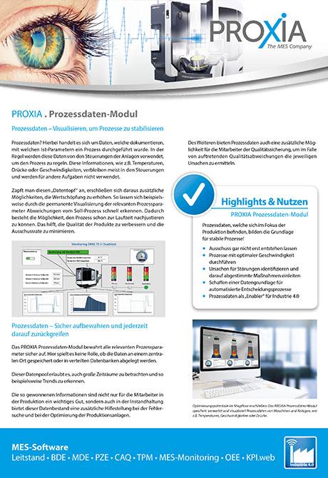PROXIA Flyer Prozessdaten