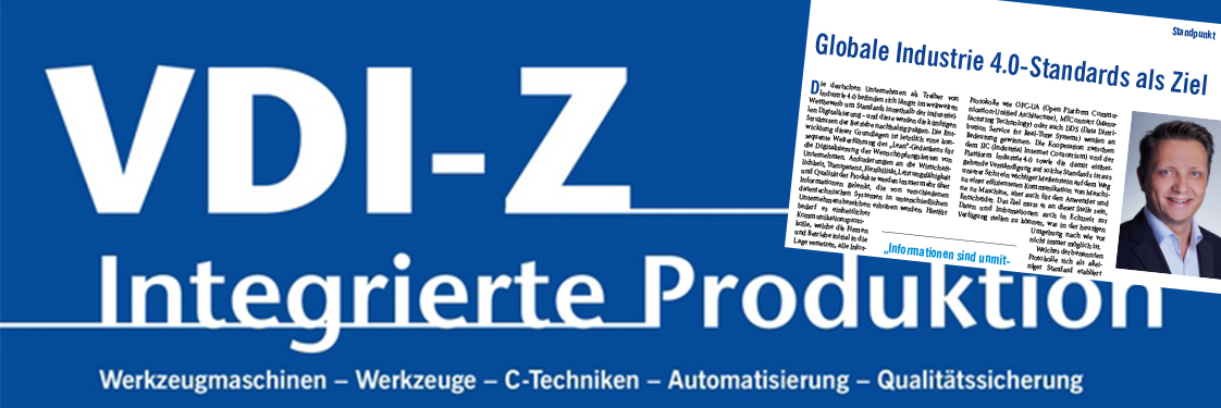 PROXIA Editorial VDI-Z Globale Industrie 4.0-Standards als Ziel